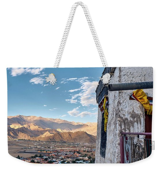 Weekender Tote Bag featuring the photograph Spituk Gompa by Whitney Goodey