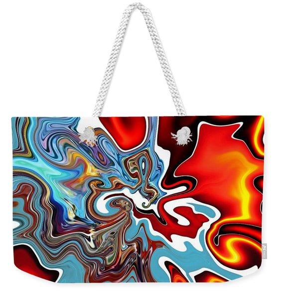 Weekender Tote Bag featuring the digital art Splash by A zakaria Mami