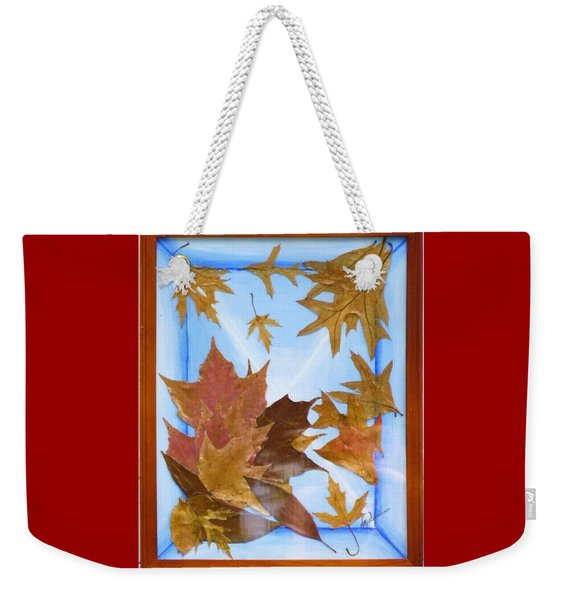 Splattered Leaves Weekender Tote Bag