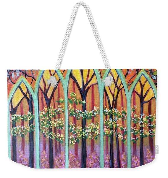 Spring Cathedral Weekender Tote Bag