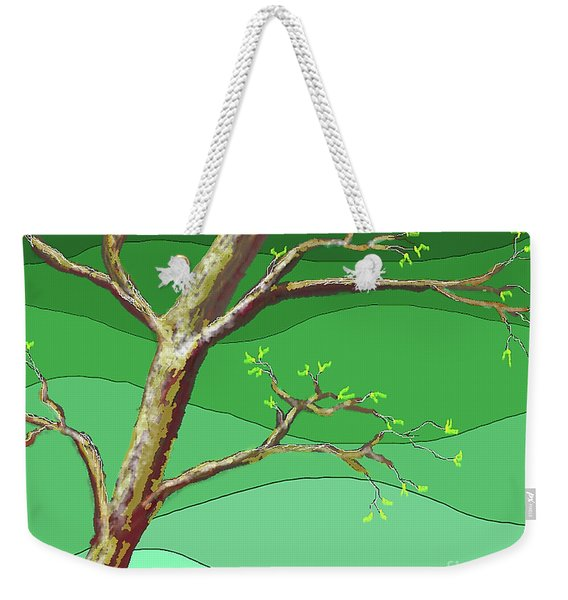 Spring Errupts In Green Weekender Tote Bag