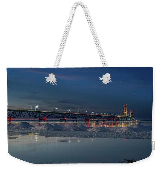 Spring Evening At The Mackinac Bridge Weekender Tote Bag