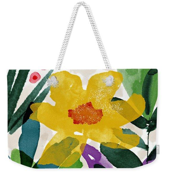 Spring Garden Yellow- Floral Art By Linda Woods Weekender Tote Bag