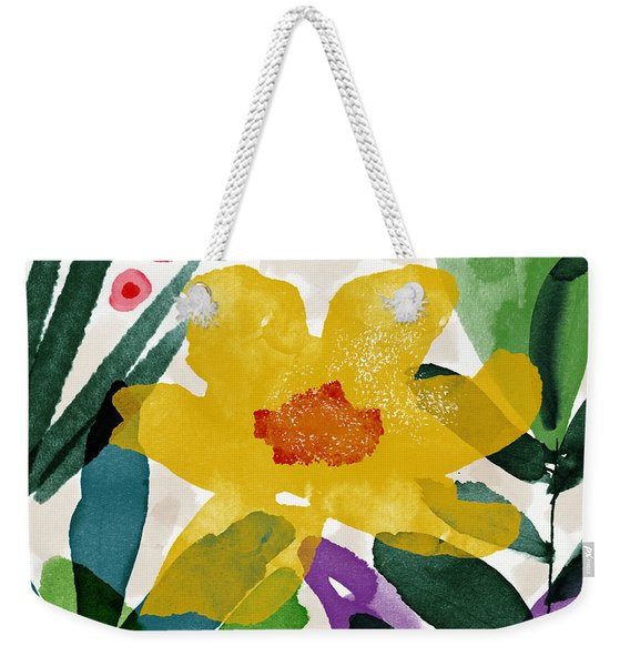 Spring Garden Yellow- Floral Art By Linda Woods Weekender Tote Bag