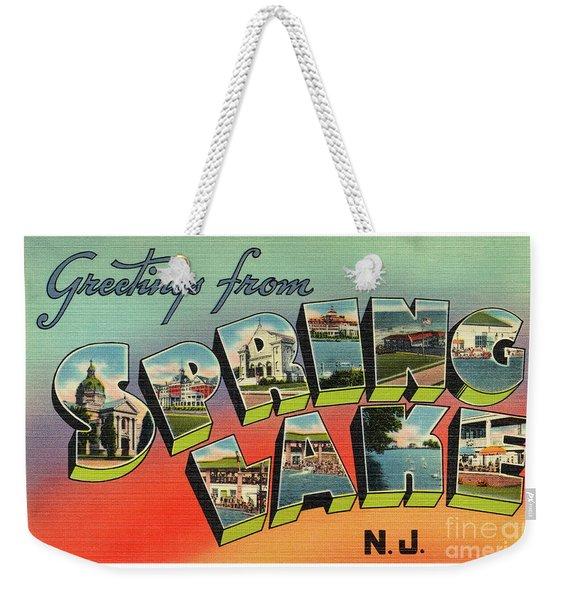 Spring Lake Greetings Weekender Tote Bag