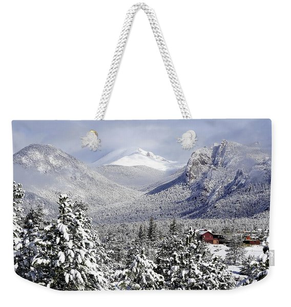 Spring Snow In Estes Park Colorado Weekender Tote Bag