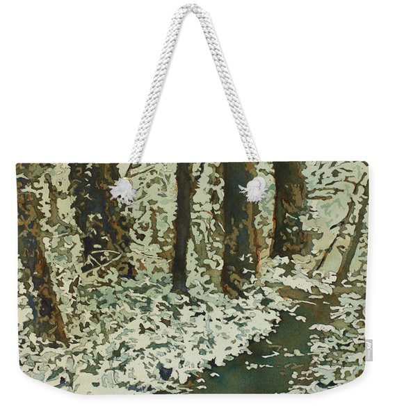 Spring Snow On Croisan Scenic Weekender Tote Bag