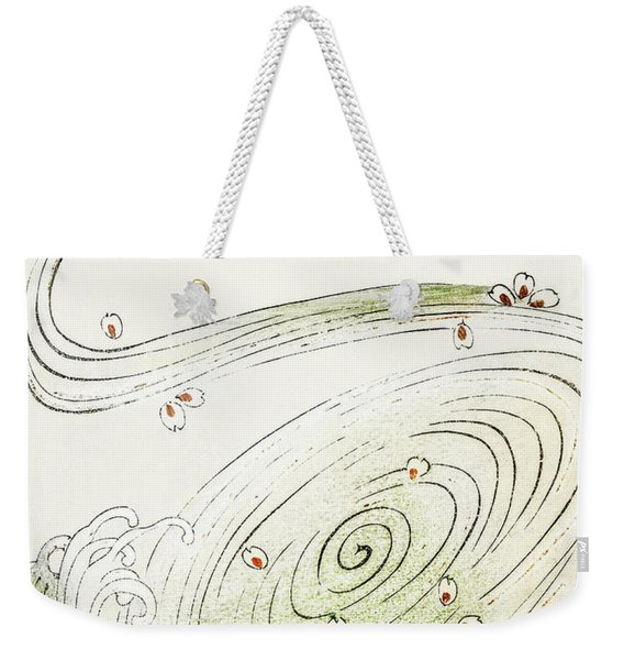 Spring Storm - Japanese Traditional Pattern Design Weekender Tote Bag