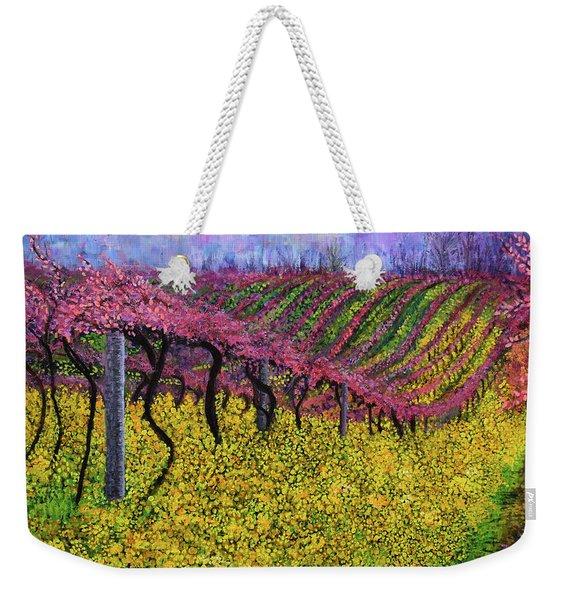 Spring Vineyard Weekender Tote Bag