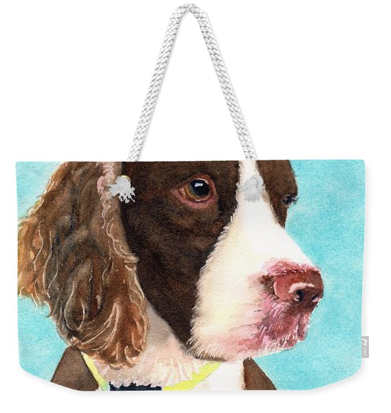 Springer Spaniel Portrait Weekender Tote Bag