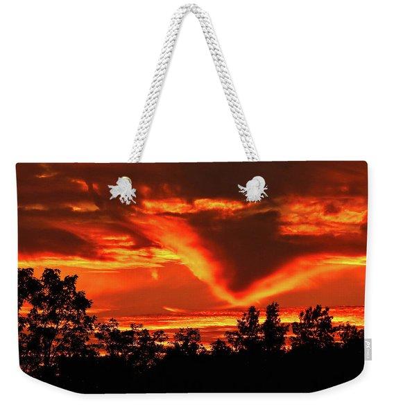 Springport, Michigan Sunset 4289 Weekender Tote Bag