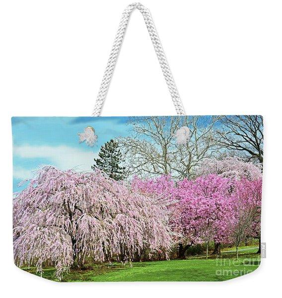 Springtime Cherry Blossom Landscape Nj Weekender Tote Bag
