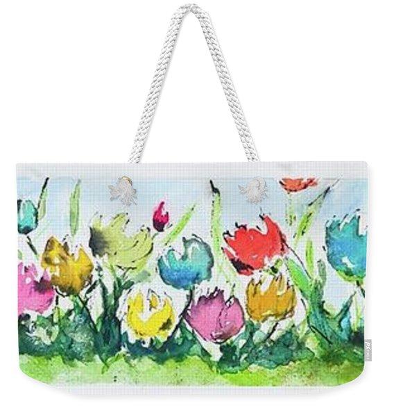 Springtime Tulips Weekender Tote Bag