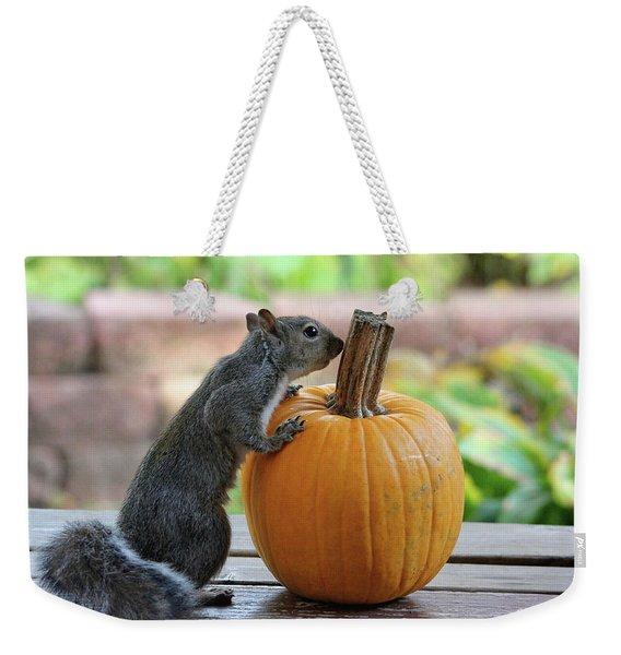 Squirrel And Pumpkin Weekender Tote Bag