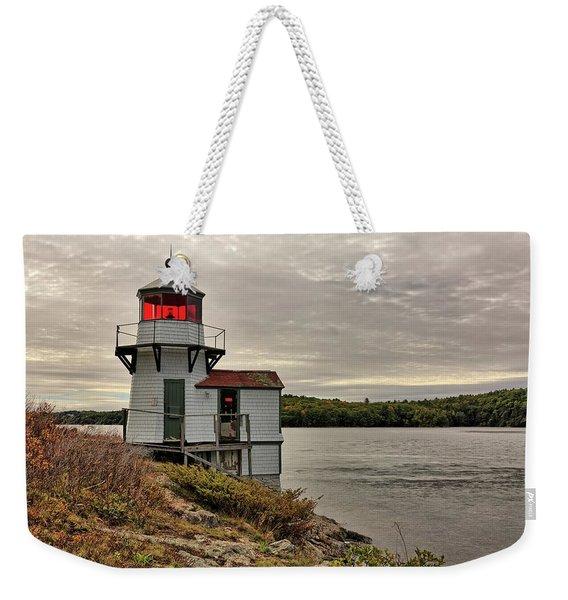 Squirrel Point Light Weekender Tote Bag