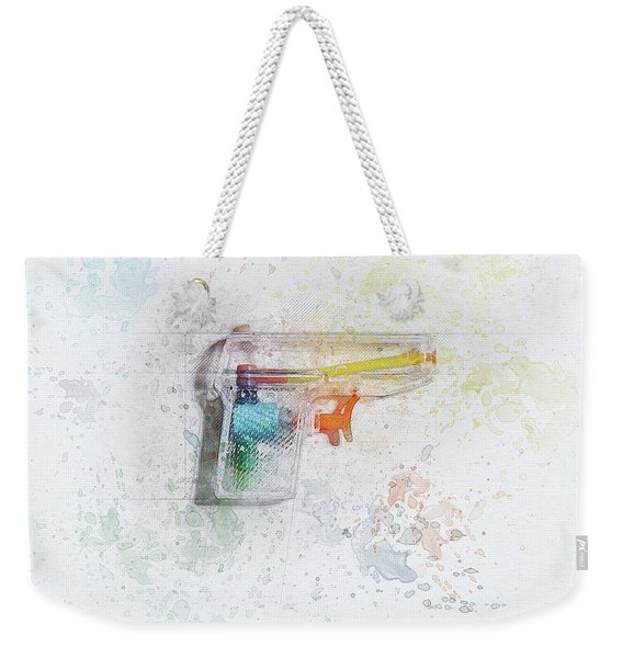 Squirt Gun Painted Weekender Tote Bag