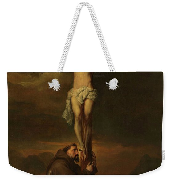 St Francis At The Foot Of The Cross, 1691 Weekender Tote Bag