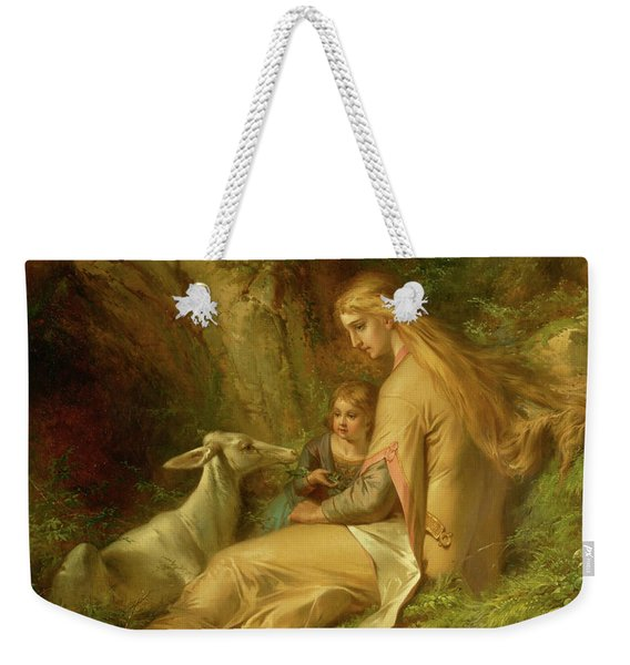 St. Genevieve Of Brabant In The Forest, 1860 Weekender Tote Bag