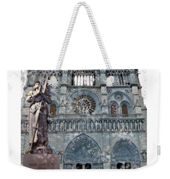 St Joan Of Arc Watch Over Notre Dame Weekender Tote Bag