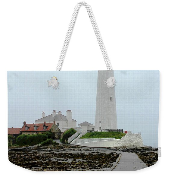 St Mary's Lighthouse Weekender Tote Bag
