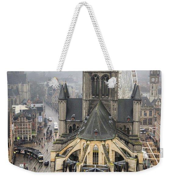 St. Nicholas Church, Ghent. Weekender Tote Bag