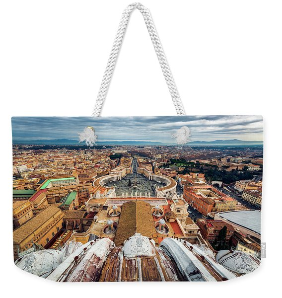 St Peter's Square From Top Of The Basilica Weekender Tote Bag