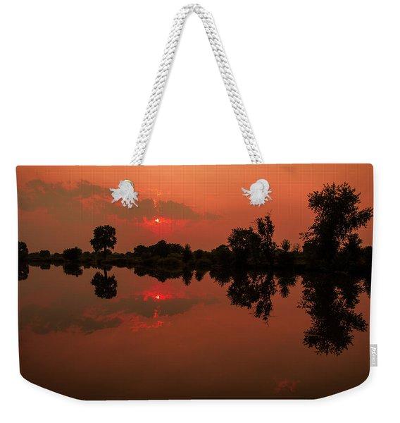 St. Vrain Sunset Weekender Tote Bag