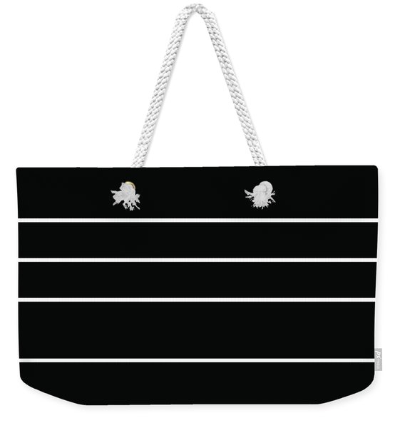 Stacked - Black And White Weekender Tote Bag