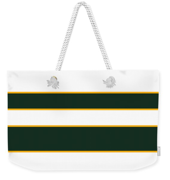 Stacked - Green, White And Yellow Weekender Tote Bag