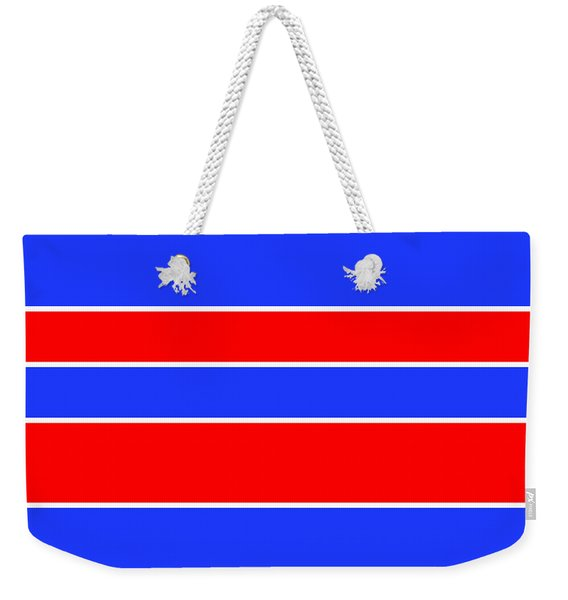 Stacked - Red, White And Blue Weekender Tote Bag