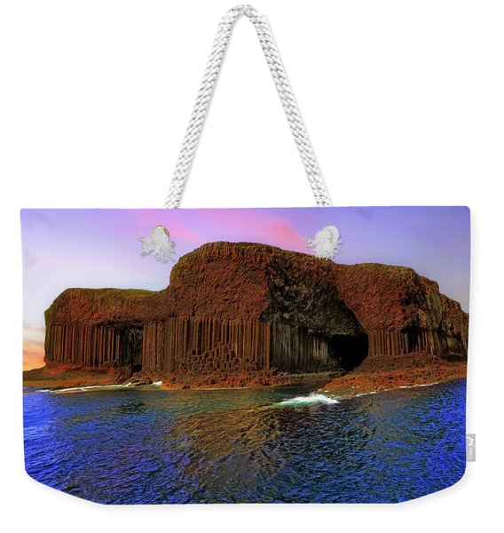 Staffa And Fingal's Cave - Scotland - Sunset Weekender Tote Bag