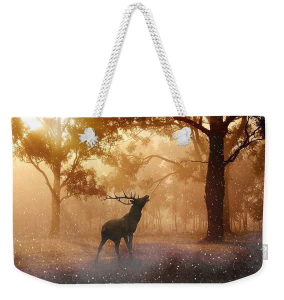 Stag In The Forest Weekender Tote Bag