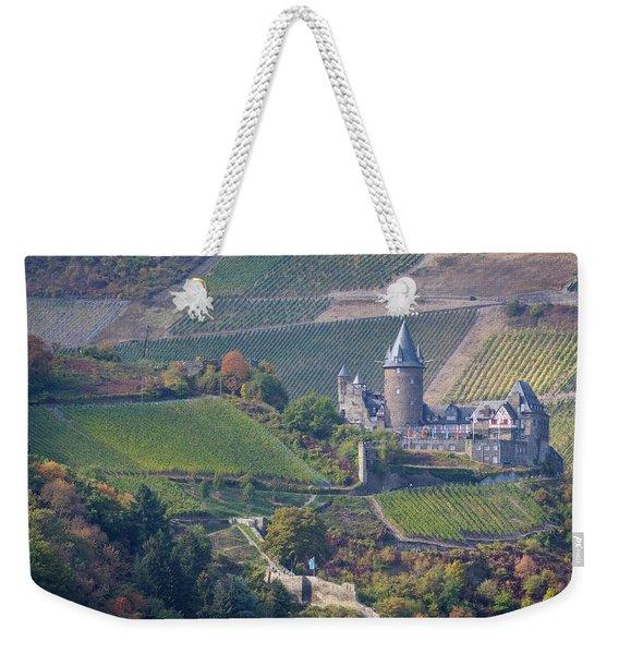 Stahleck Castle And Vineyards In Germany Weekender Tote Bag