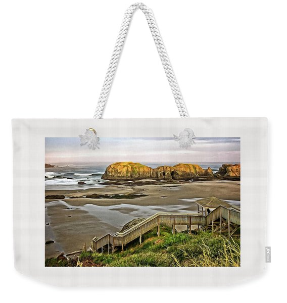 Stairs To The Beach Weekender Tote Bag