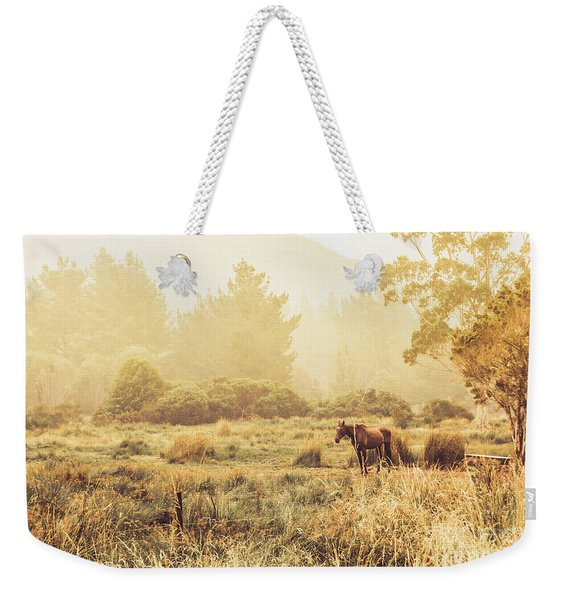 Stallion Homestead Weekender Tote Bag