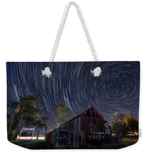 Star Trails Over Bonetti Ranch Weekender Tote Bag