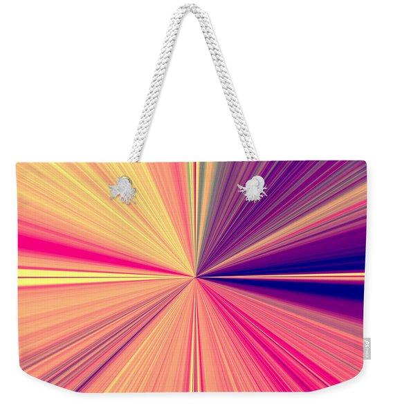 Starburst Light Beams In Abstract Design - Plb457 Weekender Tote Bag