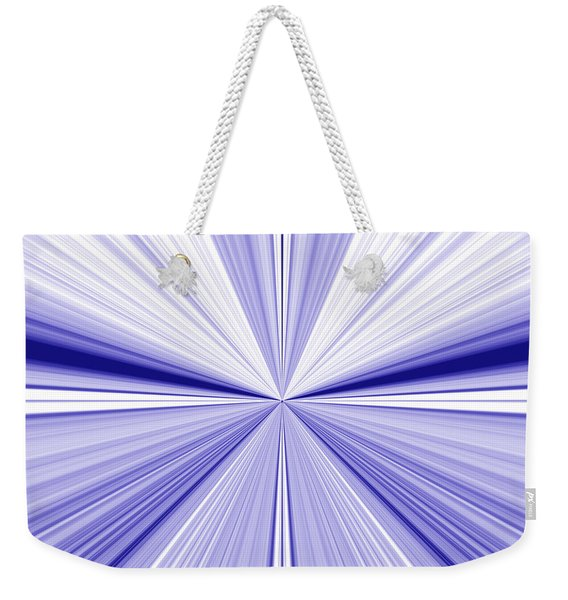 Starburst Light Beams In Blue And White Abstract Design - Plb455 Weekender Tote Bag
