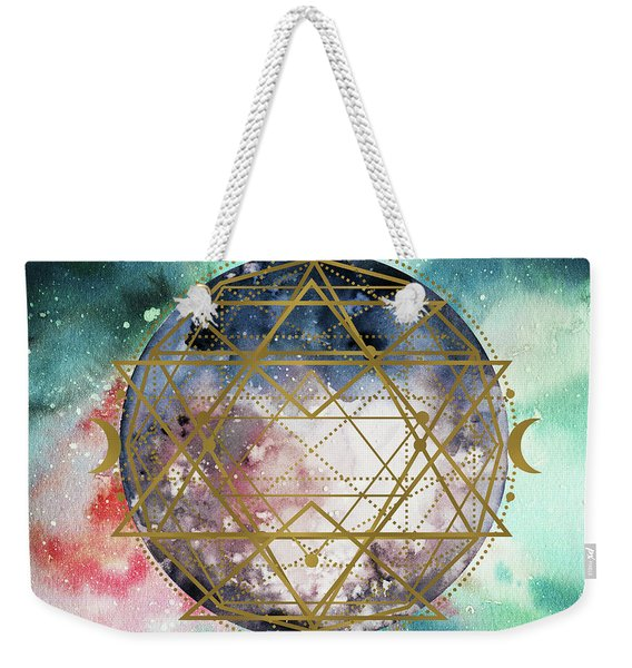 Weekender Tote Bag featuring the digital art Starchild by Bee-Bee Deigner