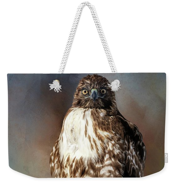 Stare Down With A Hawk Weekender Tote Bag
