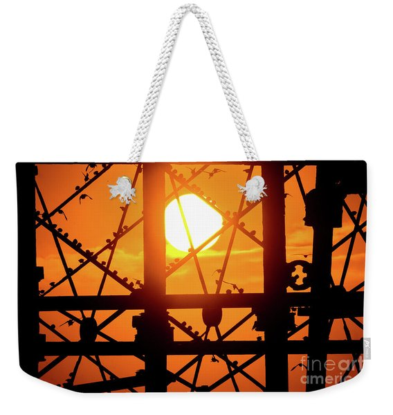 Starlings At Sunset On Aberystwyth Piwer Weekender Tote Bag