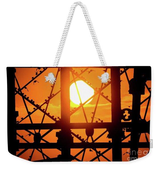 Starlings Roosting At Sunset Weekender Tote Bag
