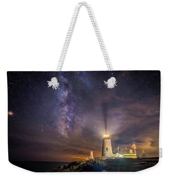 Starry Night At Pemaquid Weekender Tote Bag