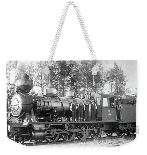 Steam Engine Locomotive 594 Finland Weekender Tote Bag