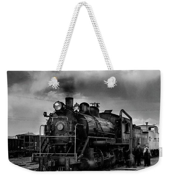 Steam Locomotive In Black And White 1 Weekender Tote Bag