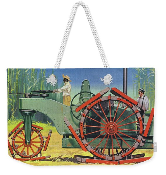 Steam Traction Engine Created To Work In The Sugar Plantations Of Cuba Weekender Tote Bag