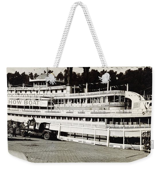Steamboat Capitol, Show Boat, On Mississippi River In Arkansas 1935 Weekender Tote Bag