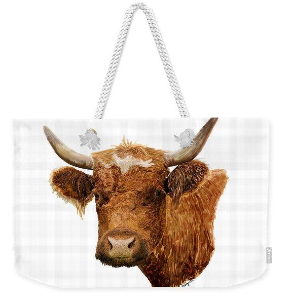 Steer Portrait - Barnyard Bunch Collection Weekender Tote Bag