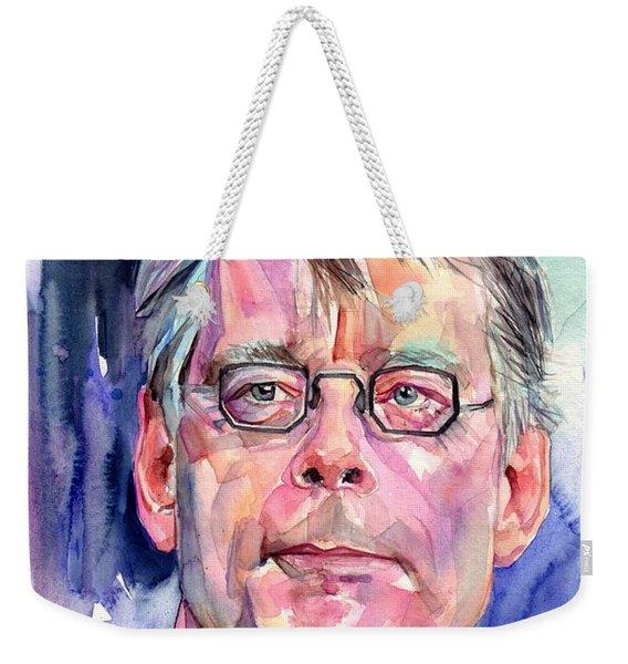 Stephen King Portrait Weekender Tote Bag