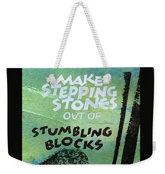 Stepping Stones Weekender Tote Bag